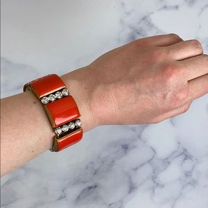 J. Crew Red With Crystals Bracelet